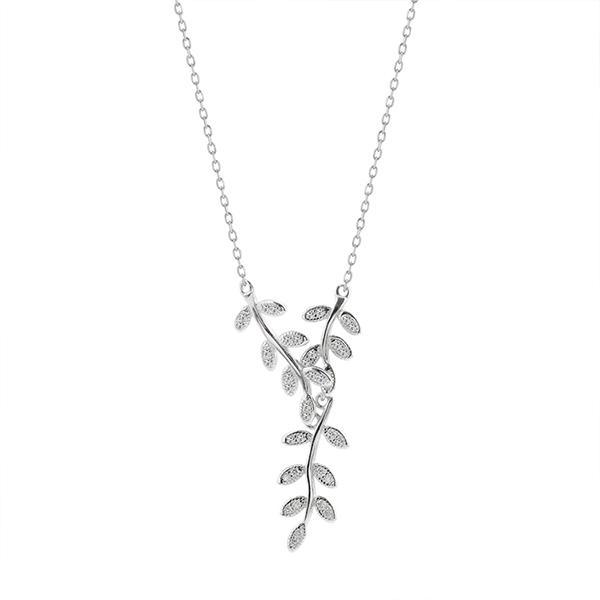 ever silver tone clear wedding austrian vine faith set earrings product necklace crystal leaf