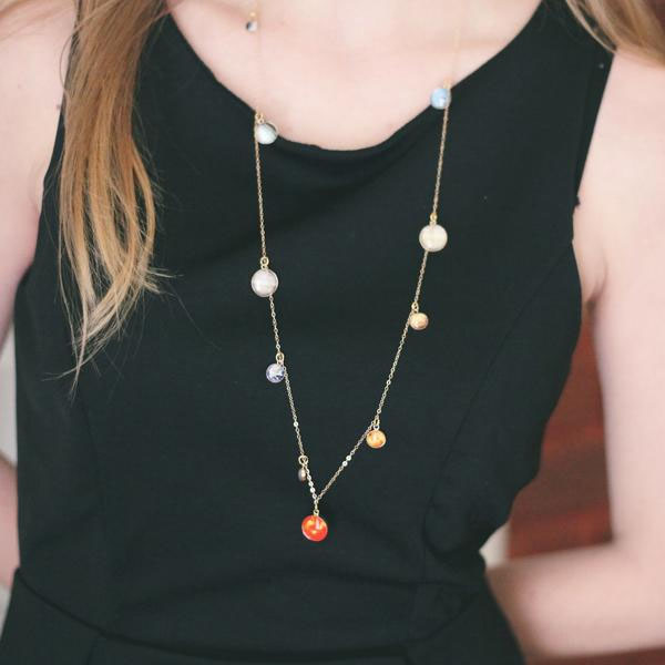 Solar System Long Necklace