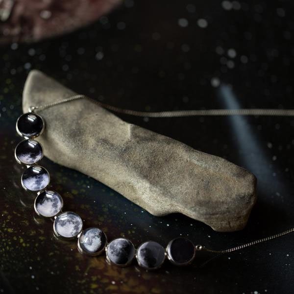 Curved Moon Phase Necklace