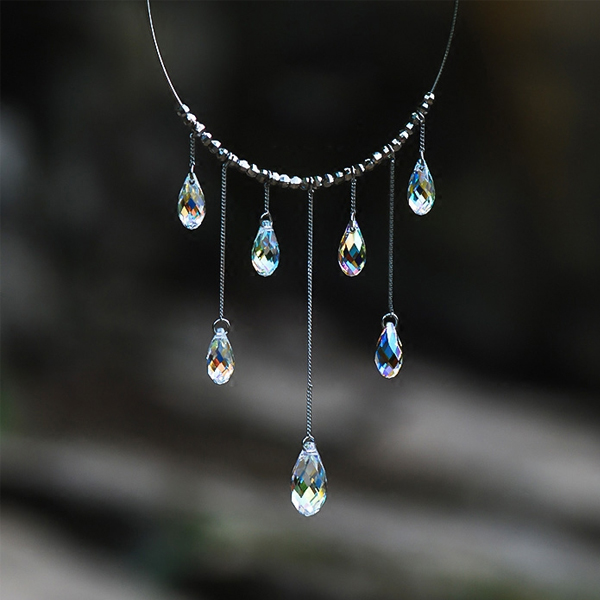 and raindrop pendant necklace products nic crystal syd grande
