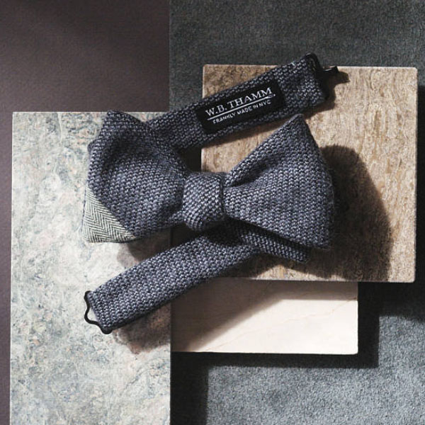 product thumbnail image for Solid Textured Grey Bowtie