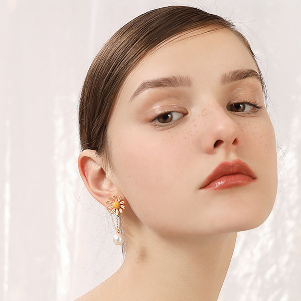 product image for Daisy Pearl Earrings