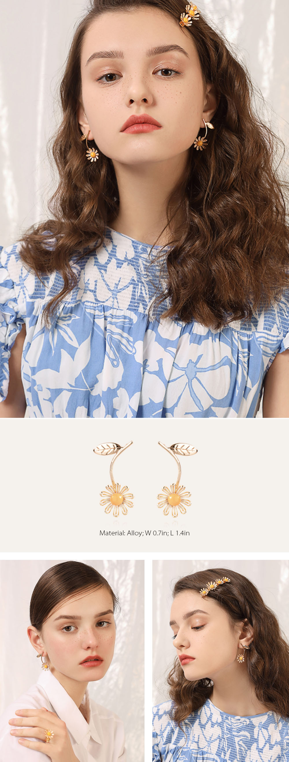 Daisy Earrings Dripping Oil