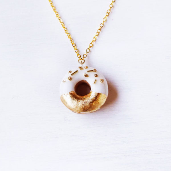 product image for Gold Donuts Pendant Necklace