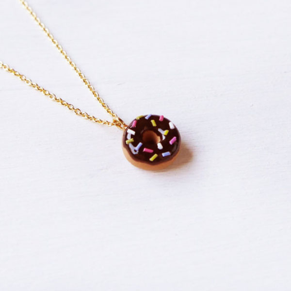 Sprinkle Doughnut Necklace