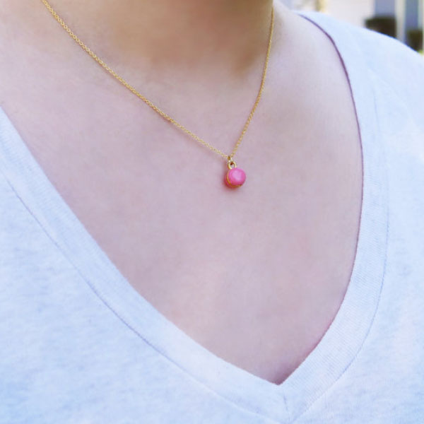 product image for Mini Pink Macaron Necklace