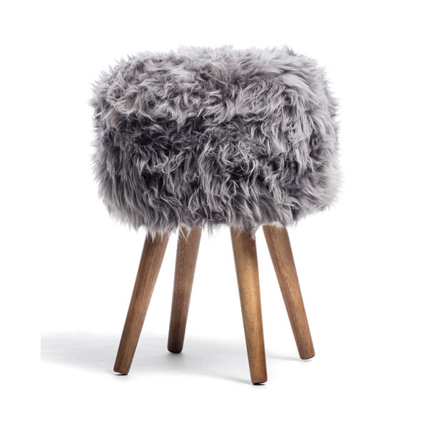 product thumbnail image for New Zealand Sheepskin Stool