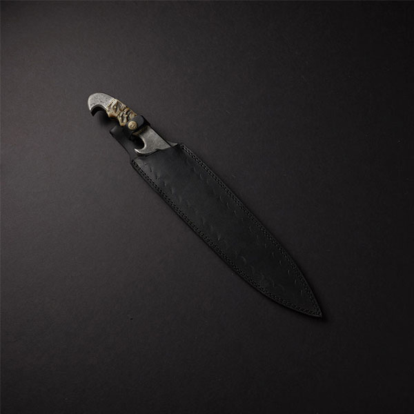 product image for Damascus Steel Bowie Knife w/ Camel Bone Handle