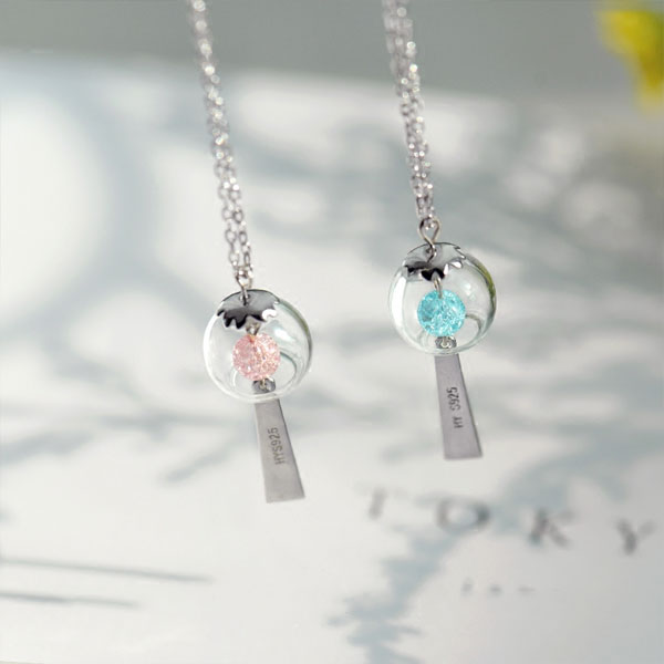 product image for Cherry Blossom Wind Chime Necklace