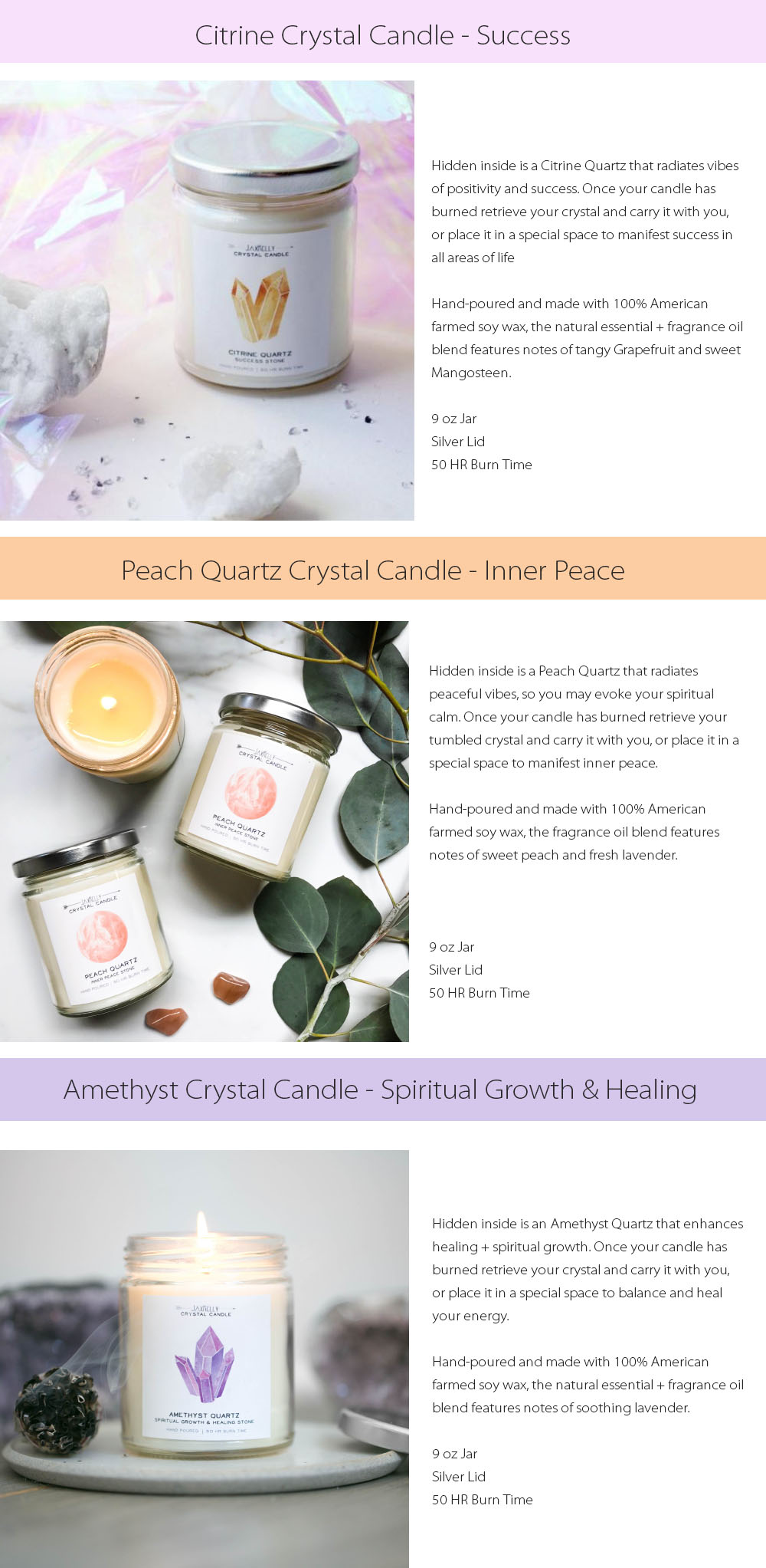 Crystal Candle Natural Essential & Fragrance Oil