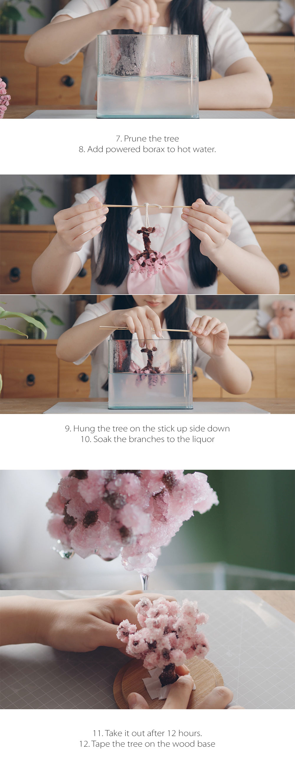 Crystal Cherry Blossom Tree DIY Kit Bring the Cherry Blossom Tree into Your Room