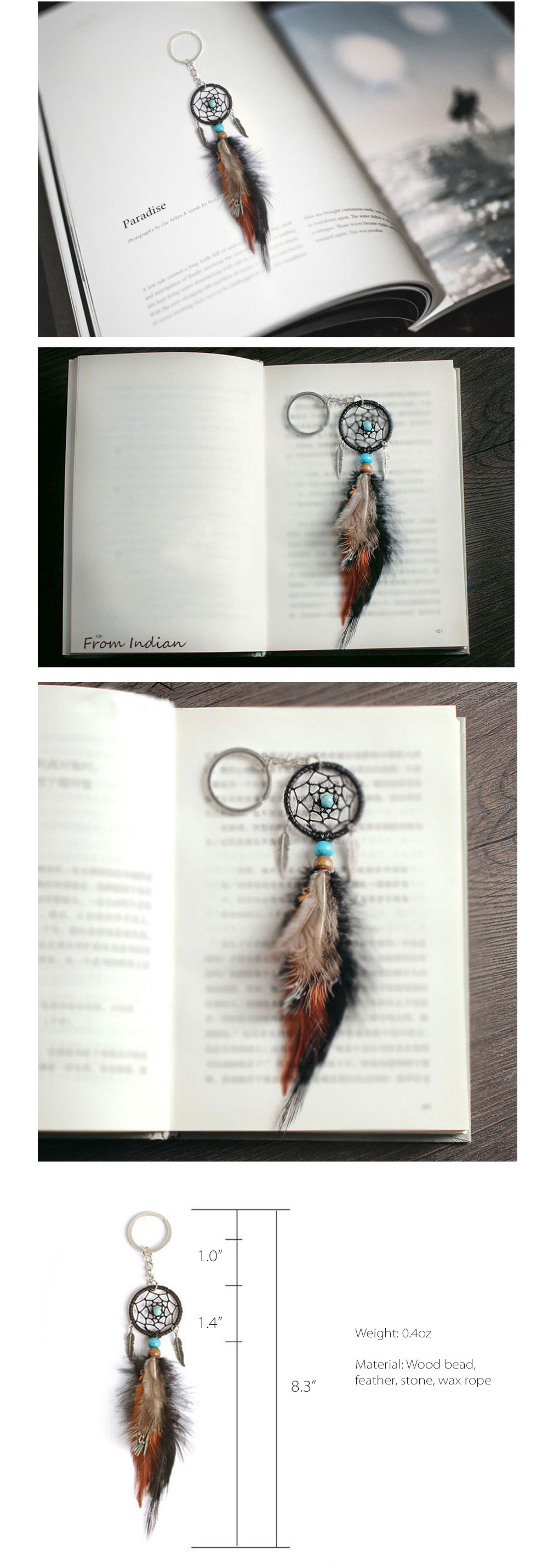Handmade Dream Catcher Keychain Handmade Item