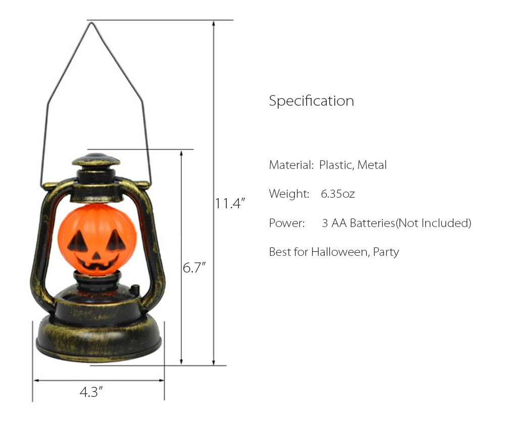 Halloween Retro Lamp Trick or Treat Lantern