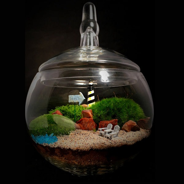 Large Lighthouse Terrarium
