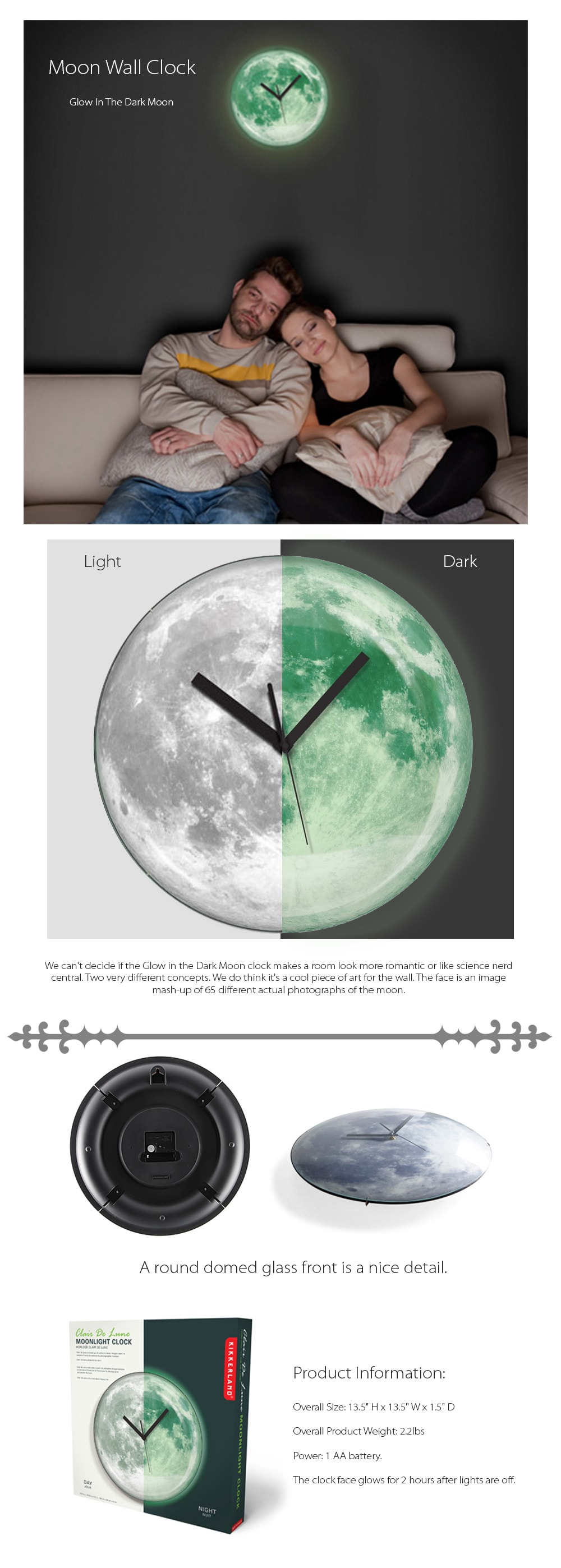 Moon Wall Clock Bring The Moon Back To Your Home