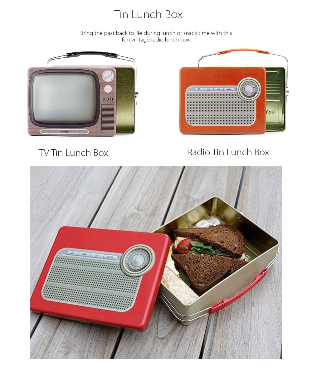 TV/Radio Tin Lunch Box Bring The Past Back To Your Life