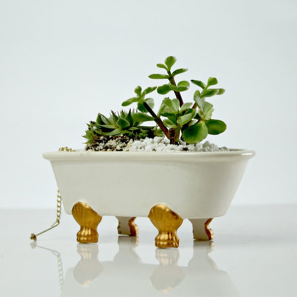 Vintage Bathtub Planter