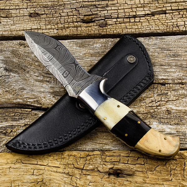 product image for Kazakh Hunter Damascus Steel Knife