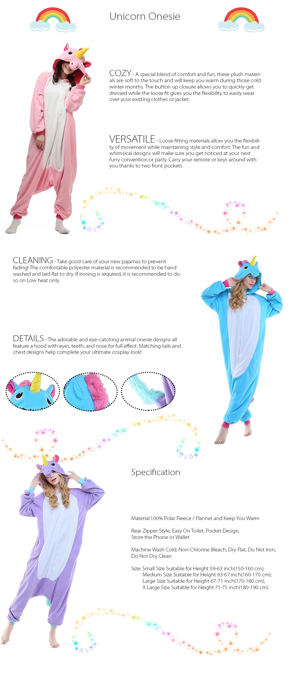 Unicorn Pajamas Adorable And Eye-Catching