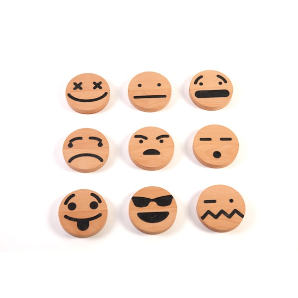product thumbnail image for Wood Emoji (20 pcs) Set