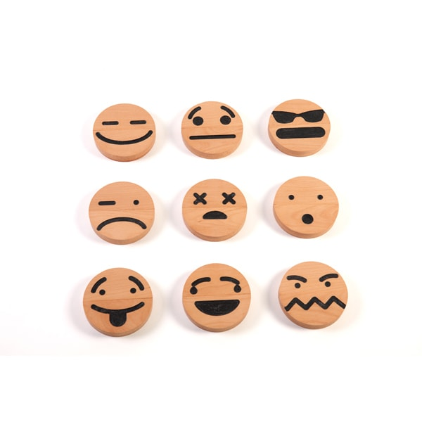 product image for Wood Emoji (20 pcs) Set