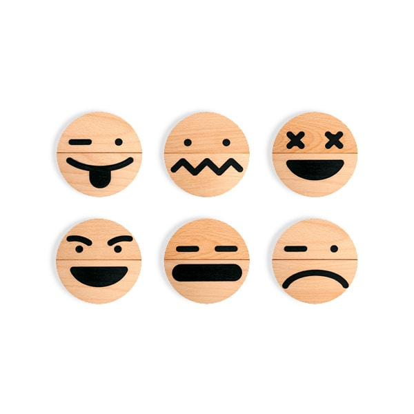 product thumbnail image for Wood Emoji (10 pcs) Set