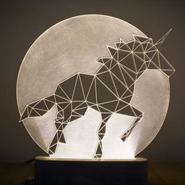 Animals with a Full Moon Decorative Lamp