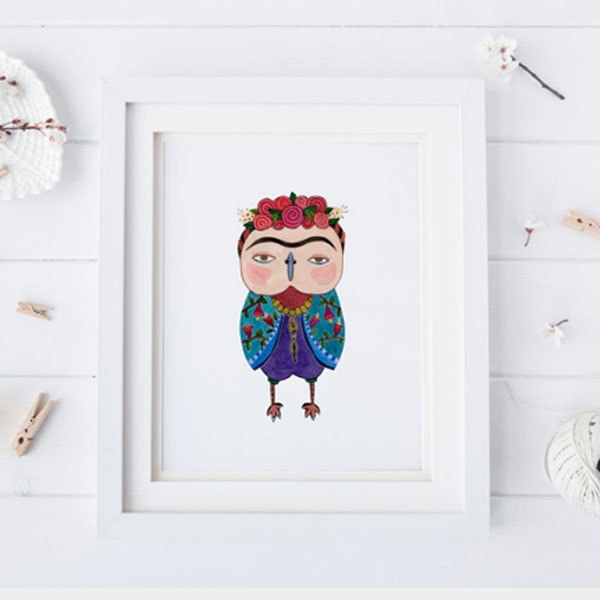 Famous People Owl Giclee Prints