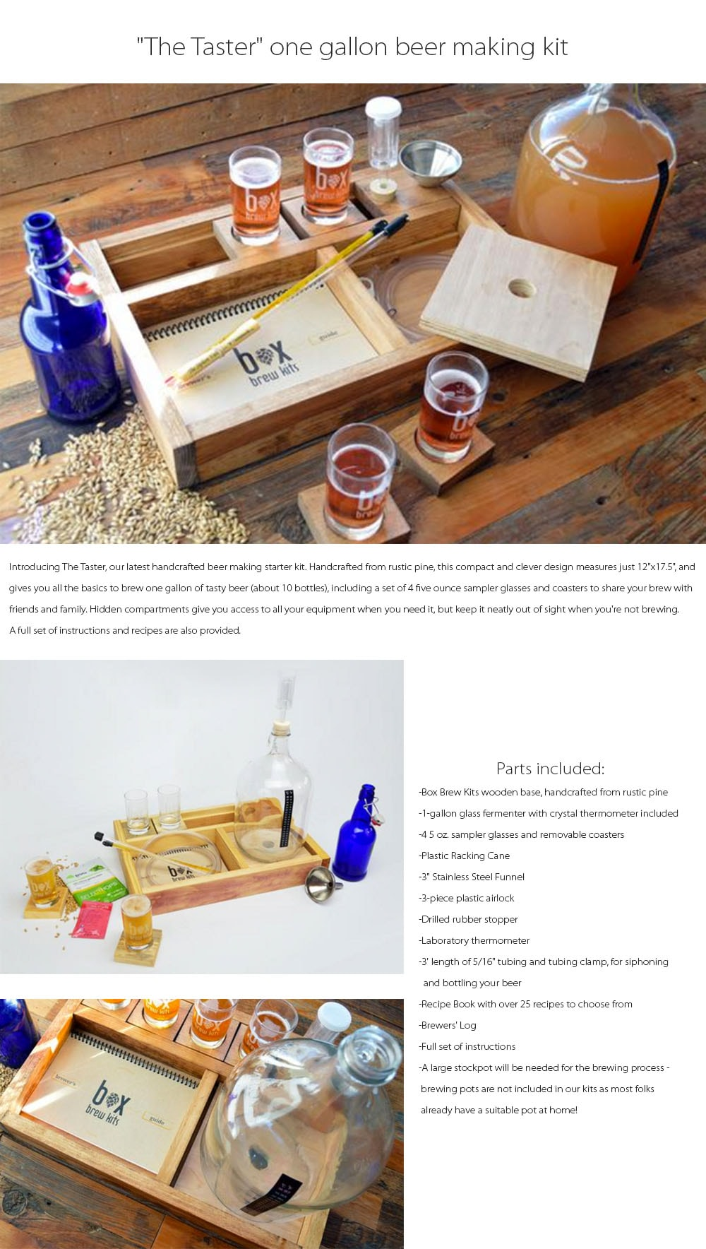 beer making kit Handcrafted Beer Making Kit For Starters