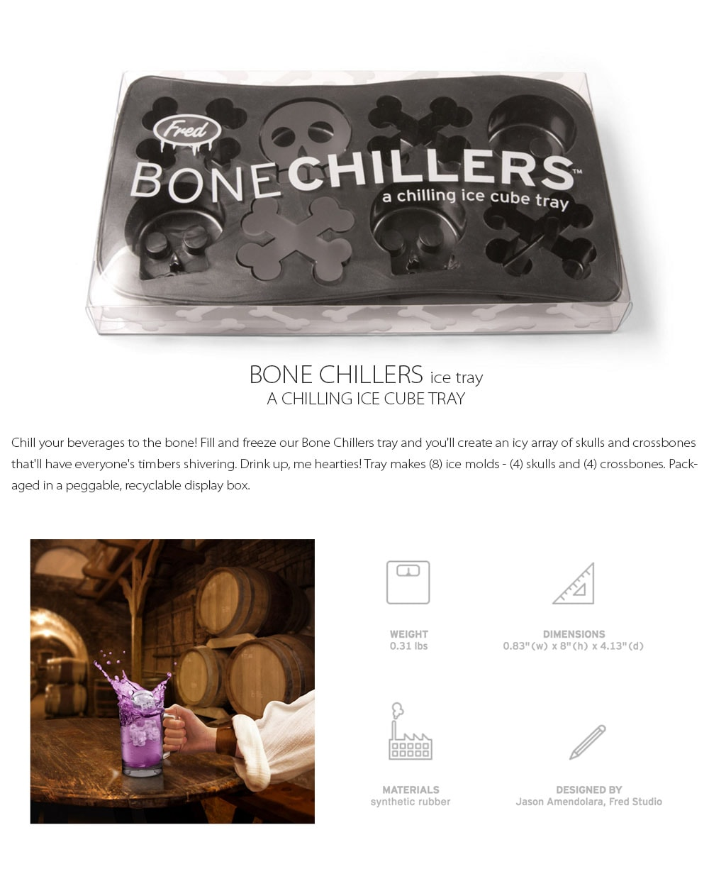 Bone Chillers ice tray A Chilling Ice Cube Tray