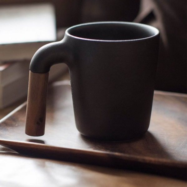 Mugr Ceramic and Wood Coffee Mug
