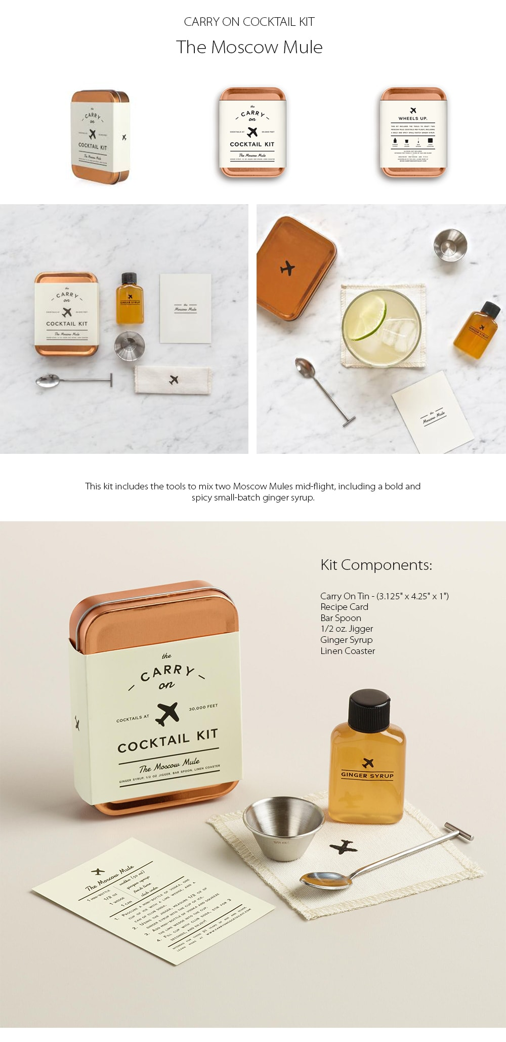Carry On Cocktail Kit - The Moscow Mule Bold And Spicy Small-batch Ginger Syrup
