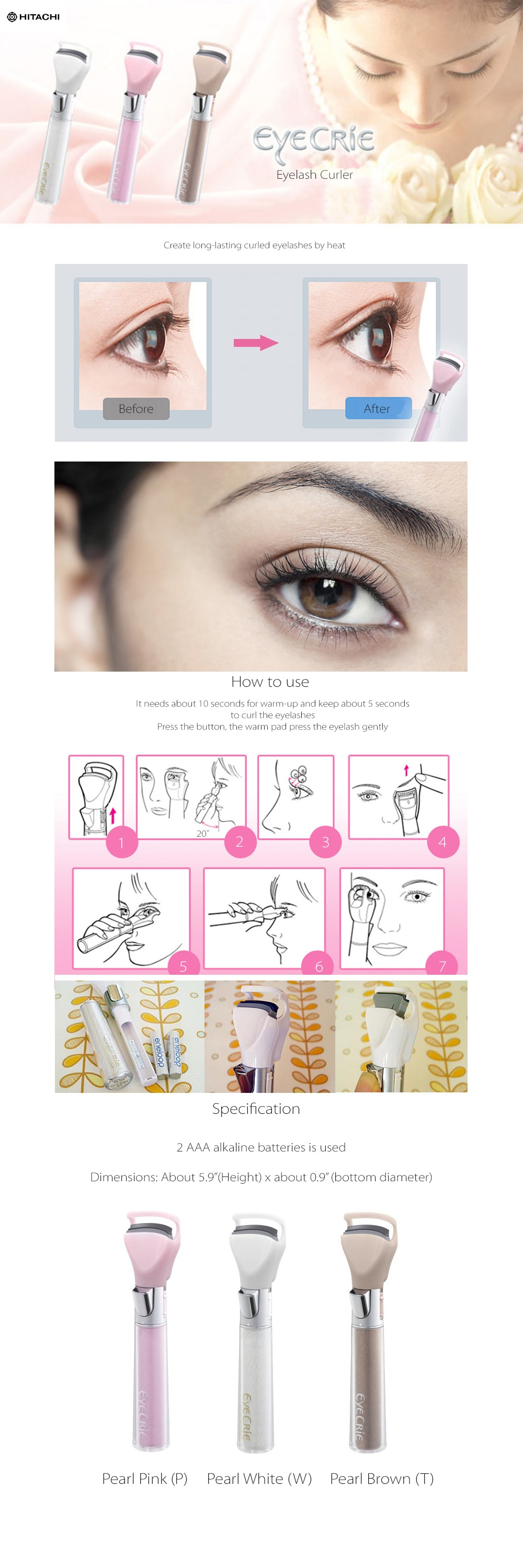 Eye Crie Eyelash Curler Imported From Japan