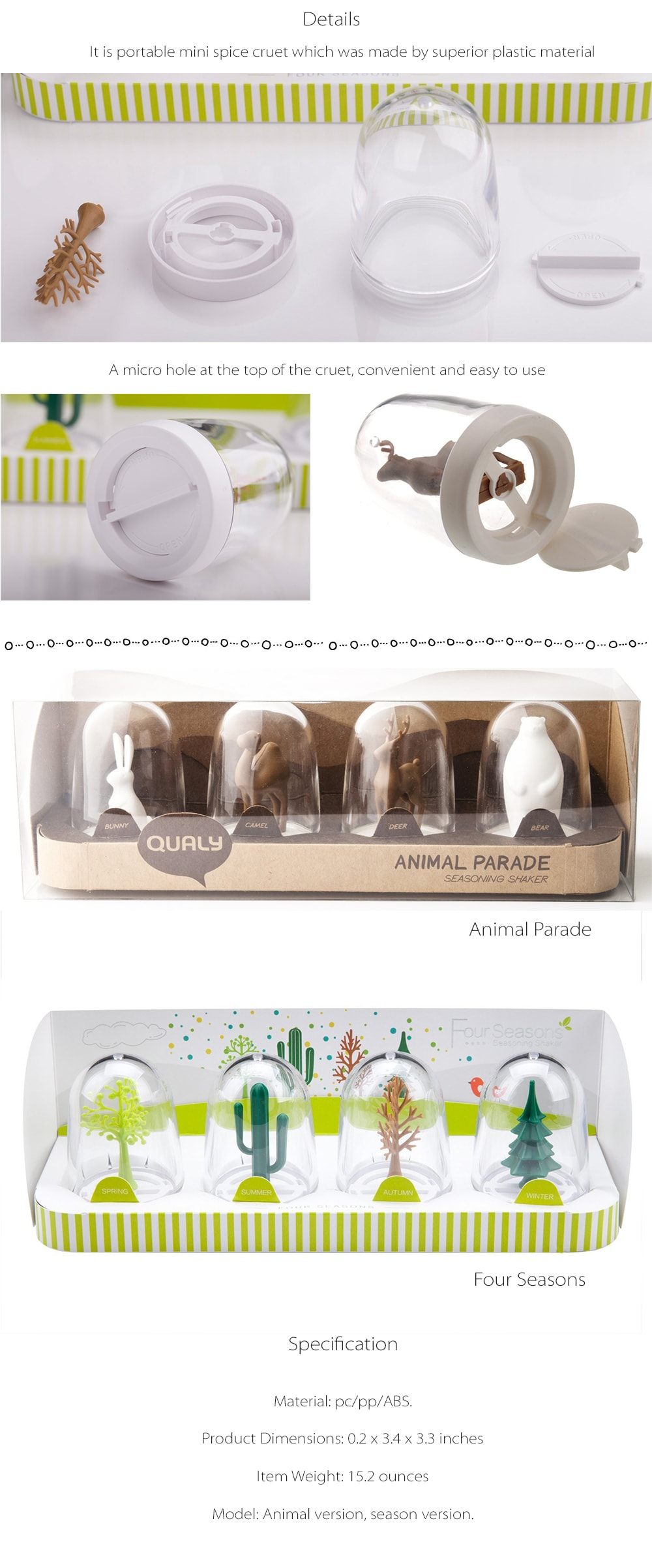 Animal/Four Season Shaker Set Bringing Nature Right To Your Dining Table