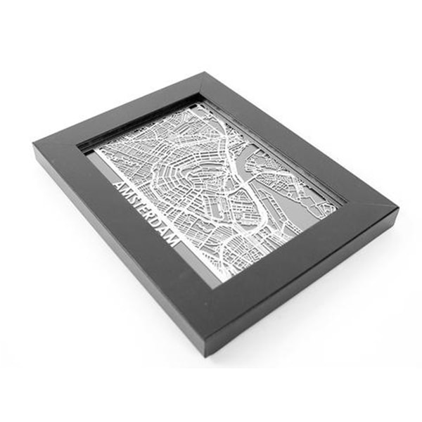 Stainless Steel Map - World Cities