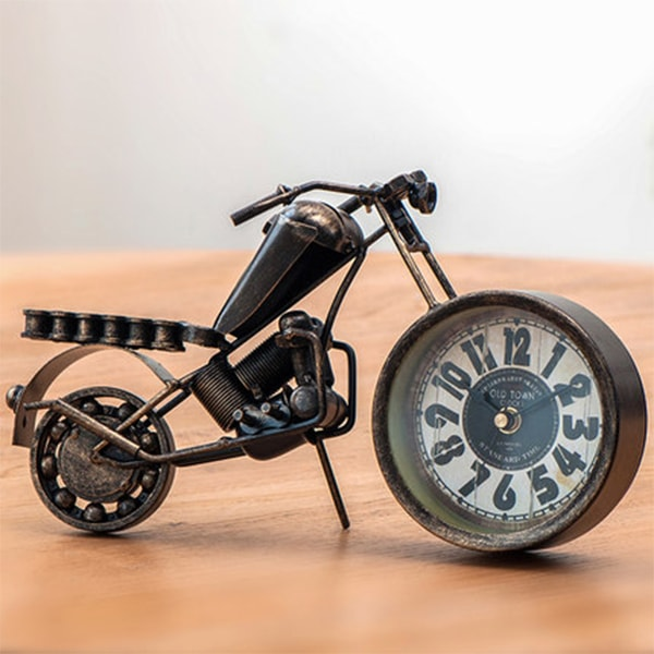 Motorcycle Desktop Clock