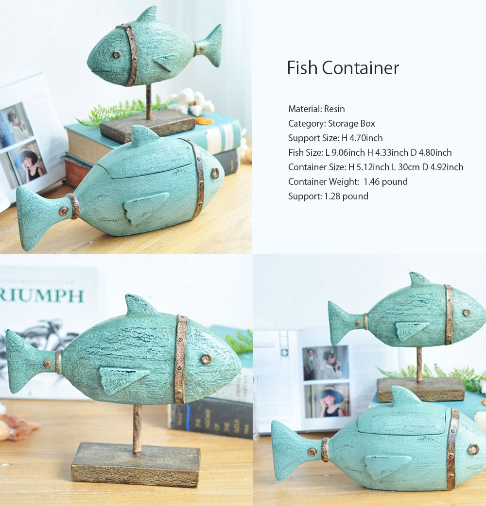 Fish Container And Ornament Great Addition To Your Home Decor