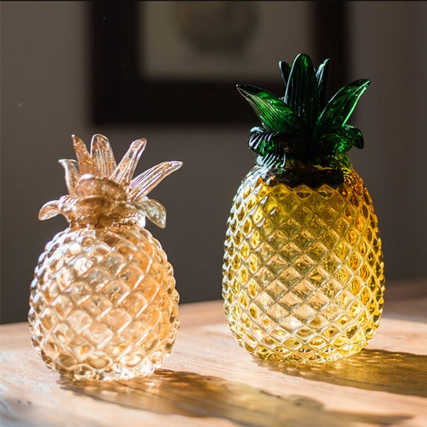 Pineapple glass decoration apollobox for Ananas dekoration