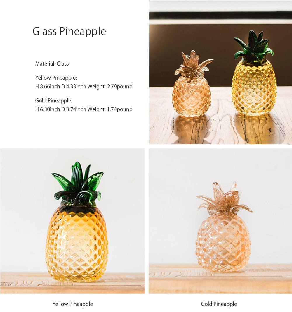 Pineapple Glass Decoration Apollobox