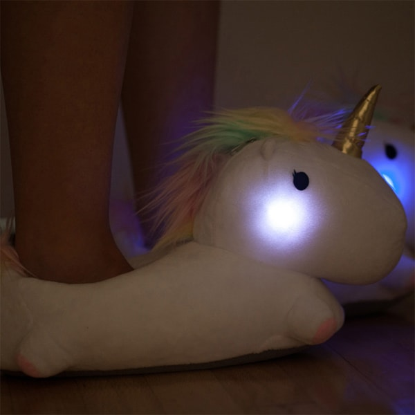 product thumbnail image for Unicorn LIGHT UP SLIPPERS