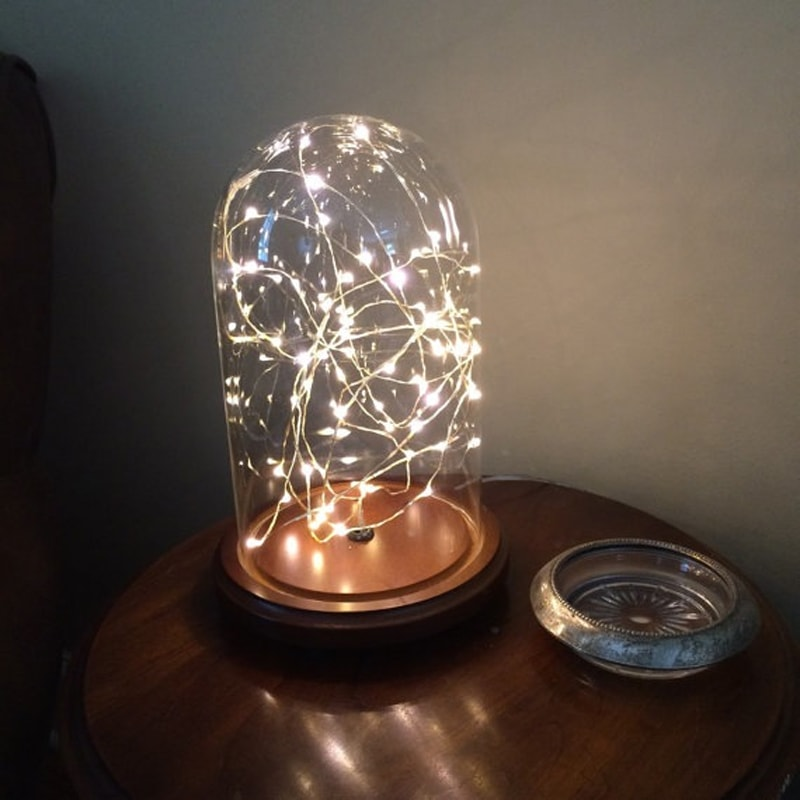 Perfect Product Image For Starry Night Jr. Glass Dome Lamp