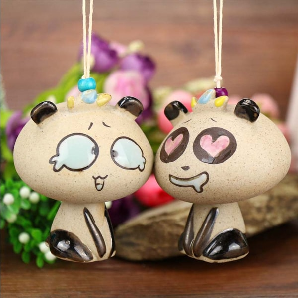 Hilarious Panda Ceramic Windbell